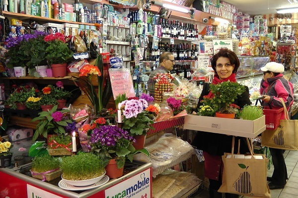 Buying Nowruz stuff in a Persian grocery in Amsterdam