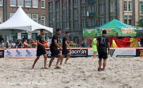 Young Iranians Beach Soccer in The Netherlands 2014